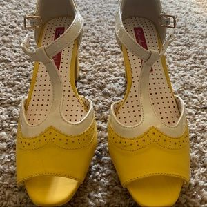 Yellow Mary Jane Shoes